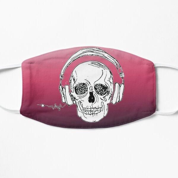skull music heartbeat Flat Mask