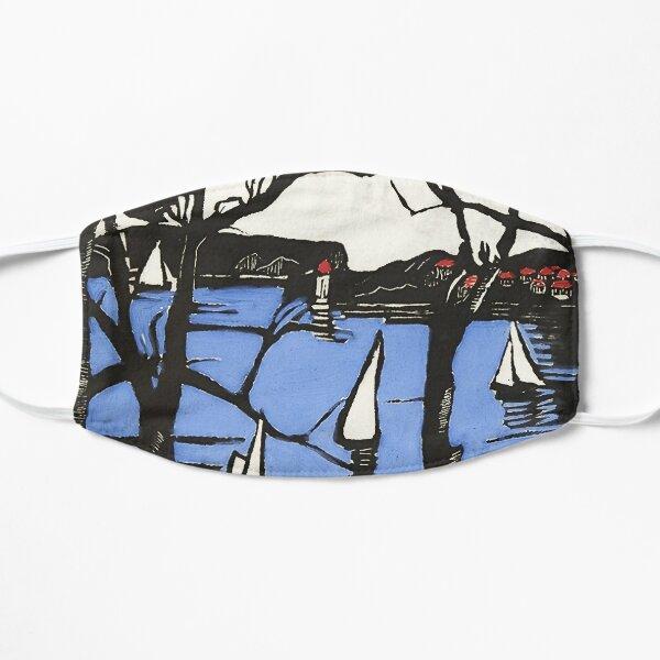 """Sydney Heads"" Woodcut by Margaret Preston Mask"