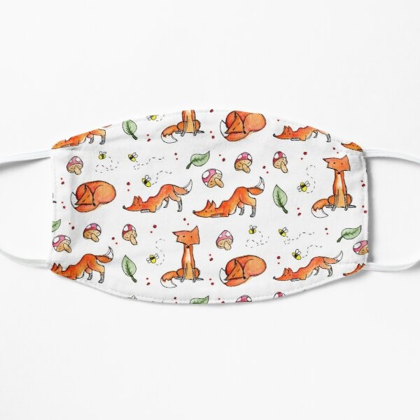 Foxes and Bees Flat Mask