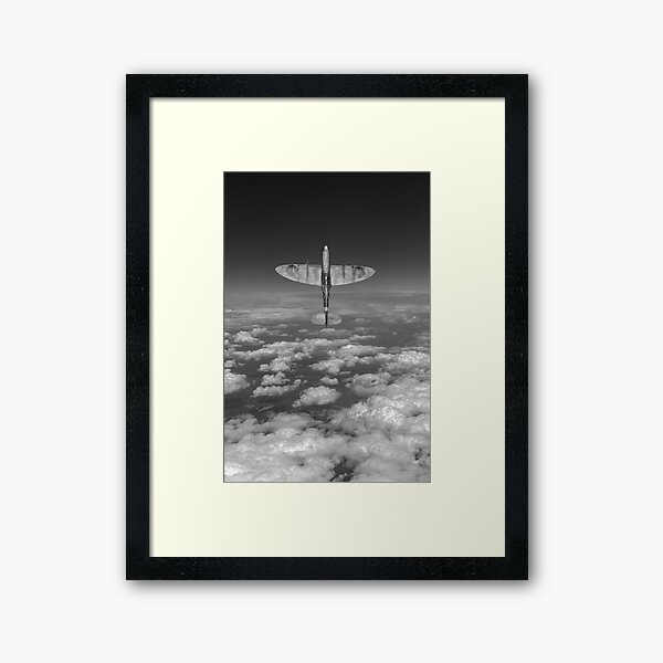 A cut above, black and white version Framed Art Print
