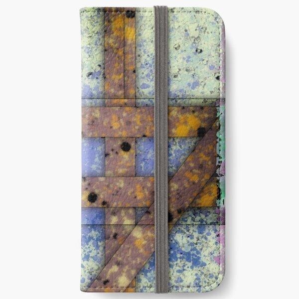 Gate - Abstract Digital Painting Wall Art Original Geometric Painting iPhone Wallet