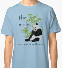 The Male Eats, Shoots and Leaves Classic T-Shirt