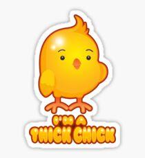 I'm A Thick Chick Sticker