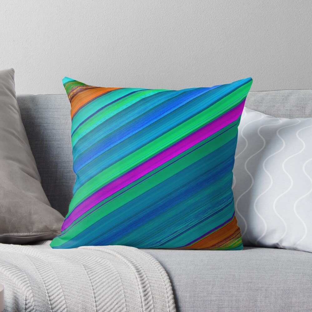 Beautiful Cushions/ Colours Abound Stripes1 Throw Pillow