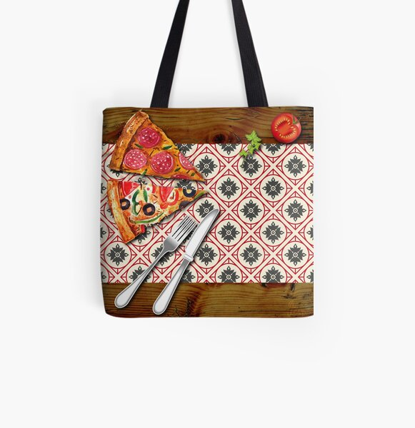 Pizza All Over Print Tote Bag