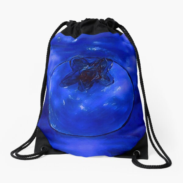 Blueberry Drawstring Bag