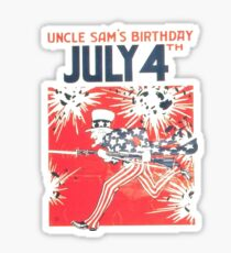 Uncle Sam's Birthday 4th July Sticker