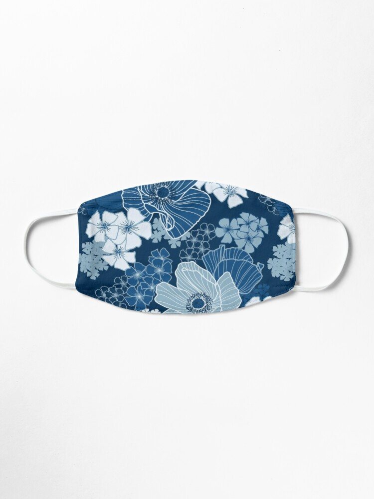 Alternate view of Classic Blue Poppies Mask