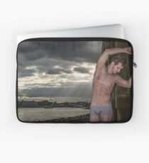Dramatic Sky with Hot Model on the Thames in London with Andrew Laptop Sleeve