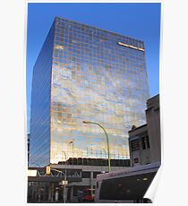 Reflections in Downtown Winnipeg Poster