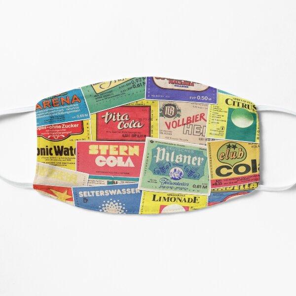 Getränke Etiketten Flache Maske