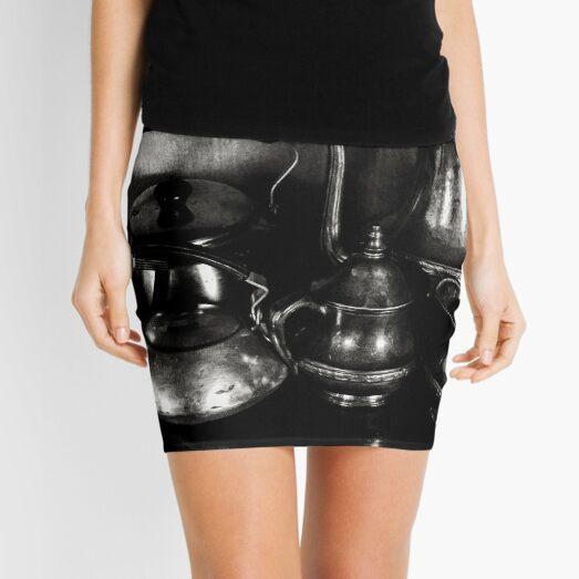 Antique Teapot Collection Mini Skirt