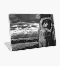 Dramatic Sky with Hot Model on the Thames in London  Laptop Skin