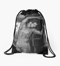 Dramatic Sky with Hot Model on the Thames in London  Drawstring Bag
