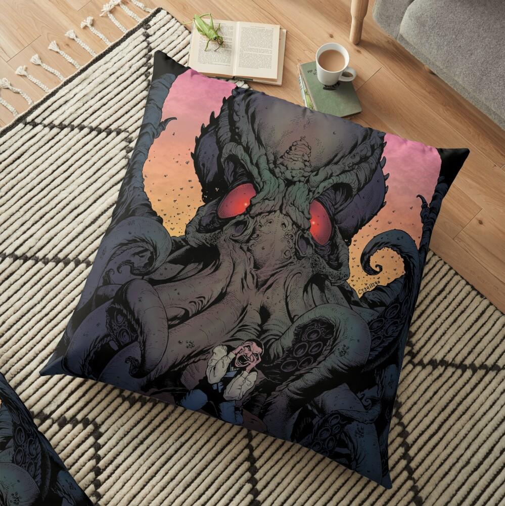 The Eternal Cthulhu Floor Pillow