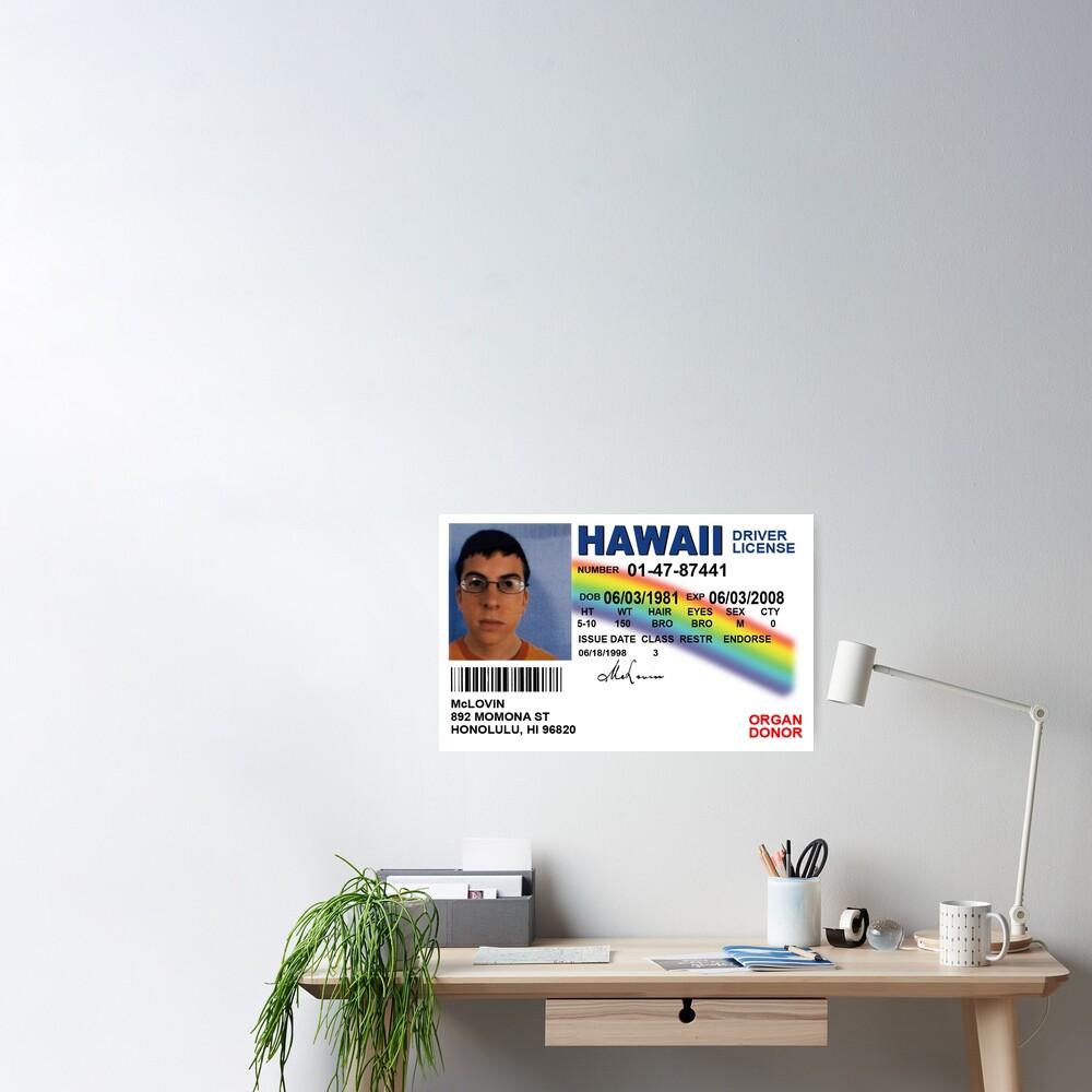 Superbad Fake ID License Poster