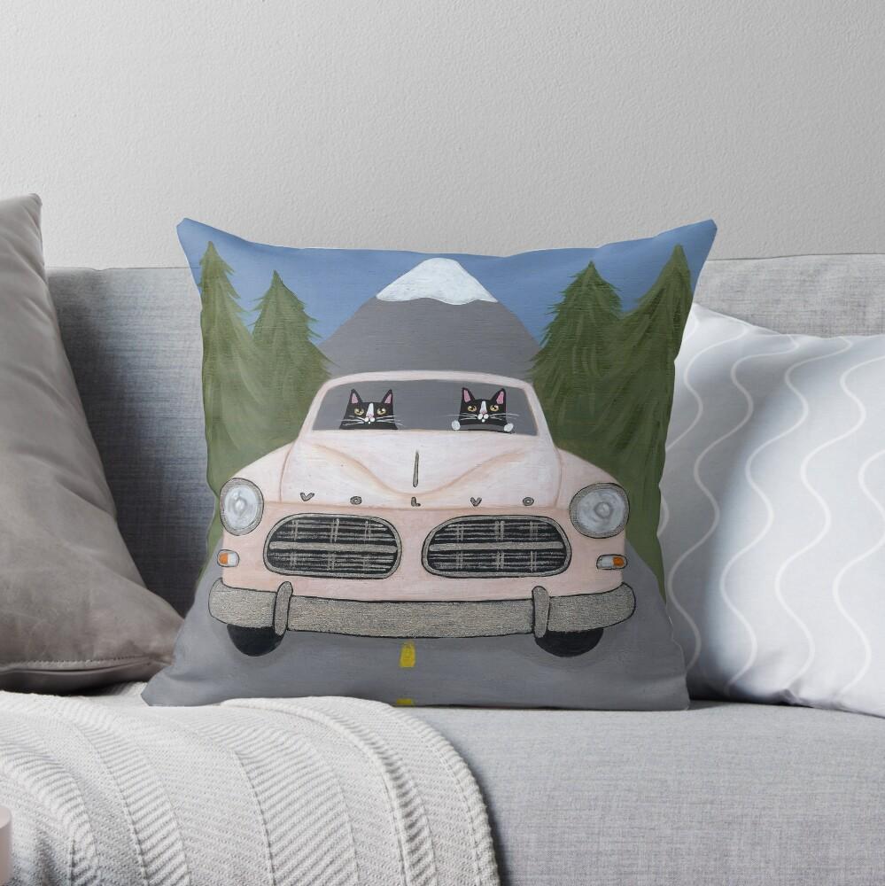 Volvo Amazon Throw Pillow