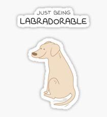 Yellow Lab Being Labradorable  Sticker