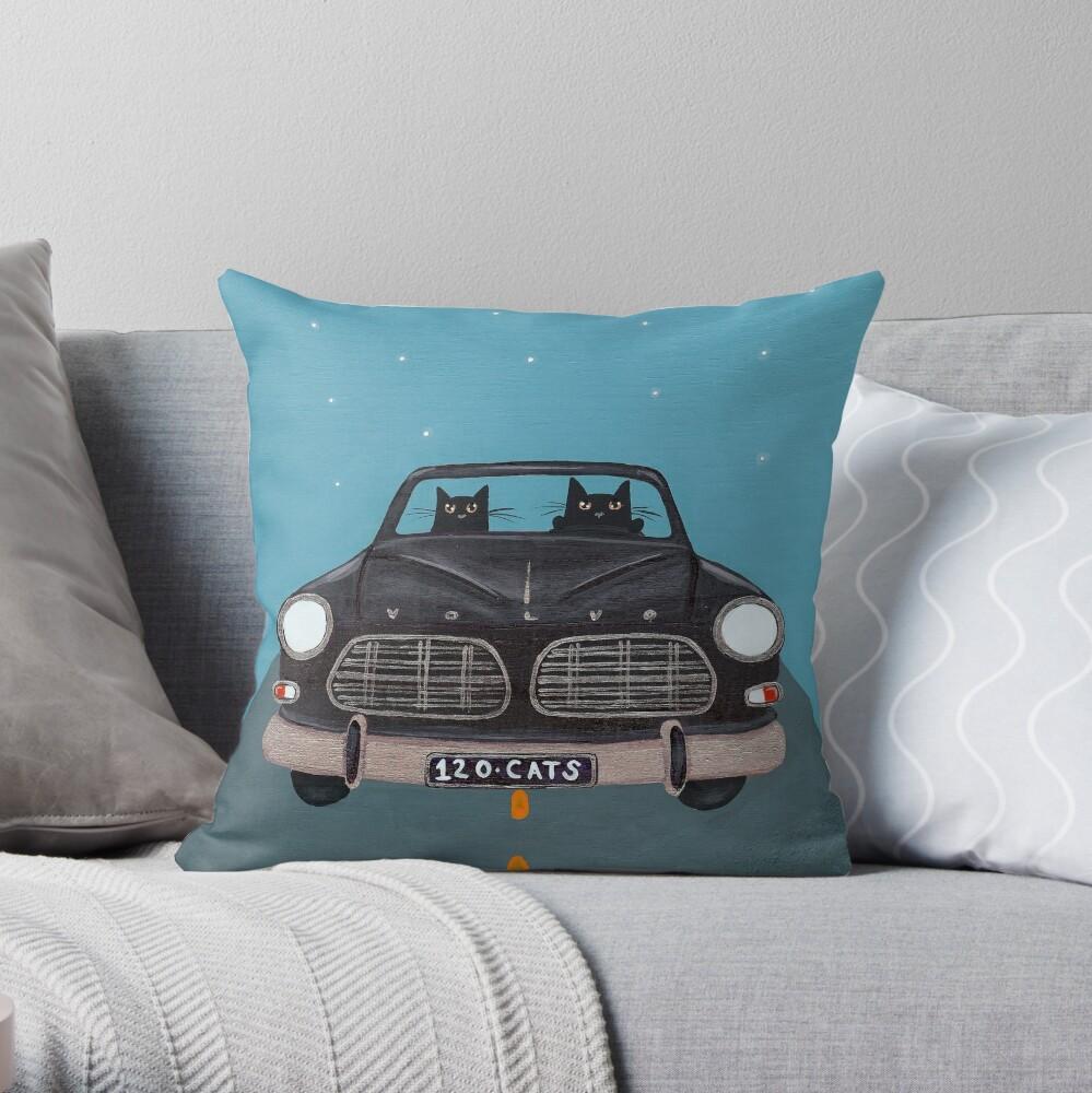 Black Volvo Amazon Throw Pillow