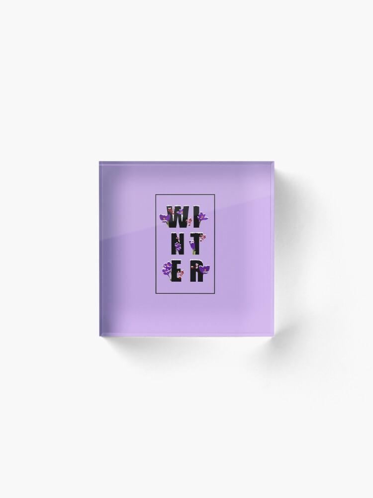 Alternate view of Winter word Acrylic Block
