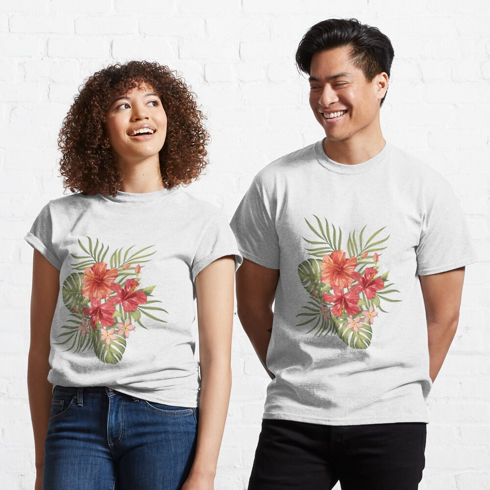 Painterly Hibiscus Classic T-Shirt