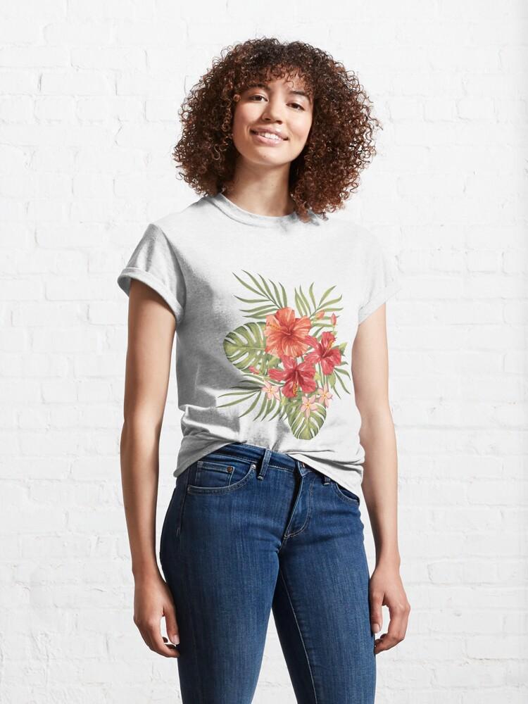 Alternate view of Painterly Hibiscus Classic T-Shirt