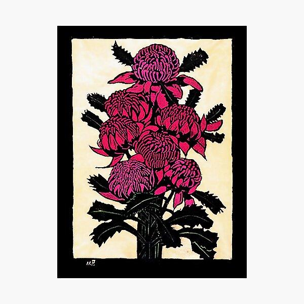"""Watara"" Woodcut by Margaret Preston Photographic Print"