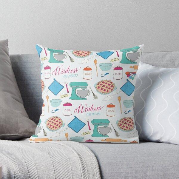 Waitress the Musical Pattern Throw Pillow