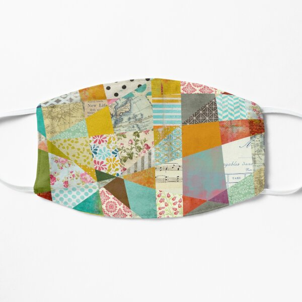 Bold and Bright Abstract Collage Artwork Mask