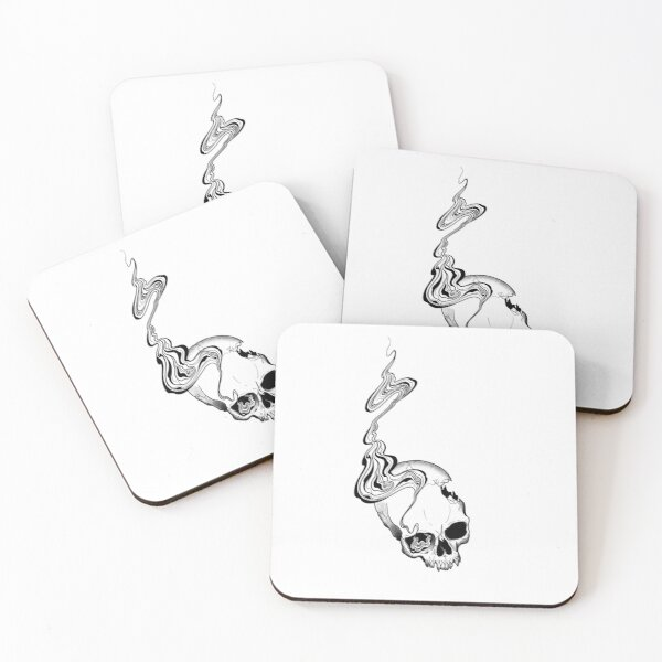 Up In Smoke Coasters (Set of 4)