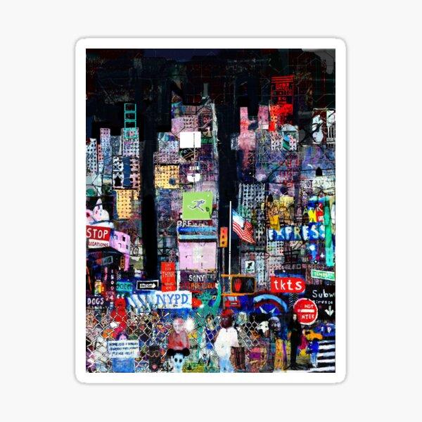 Times Square Night Sticker