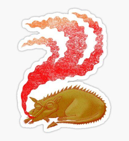 Snoring Dragon Sticker