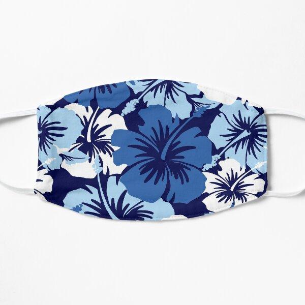 Epic Hibiscus Hawaiian Floral Aloha Shirt Print - Blue Mask