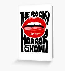 Le spectacle d'horreur rocky Carte de vœux