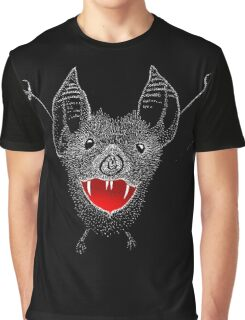 Flying Vampire Bat likes you a lot Graphic T-Shirt