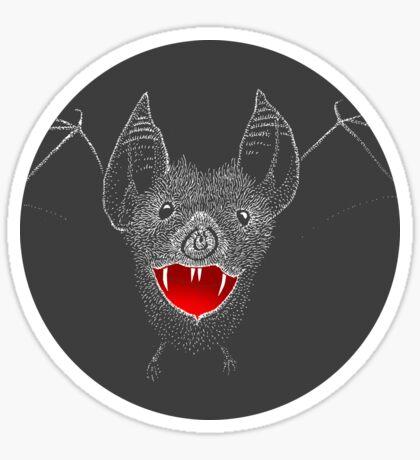 Flying Vampire Bat likes you a lot Sticker