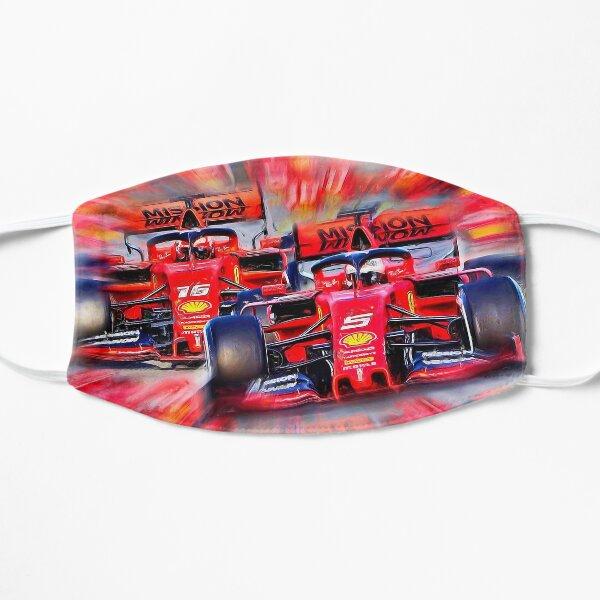 Poder italiano - Vettel contra Leclerc Mascarilla