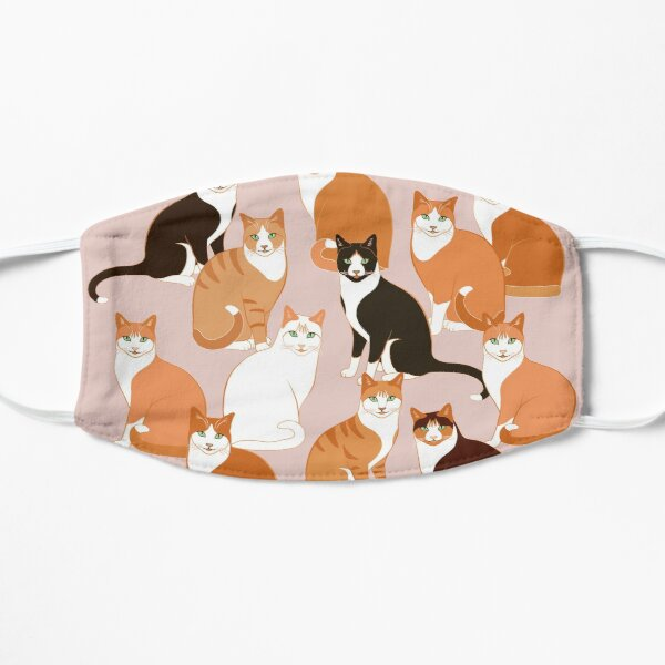 Ginger Cats on pink (with stickers) Small Mask