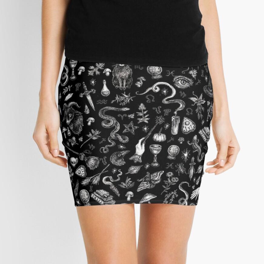 Salem Witch in Black Mini Skirt