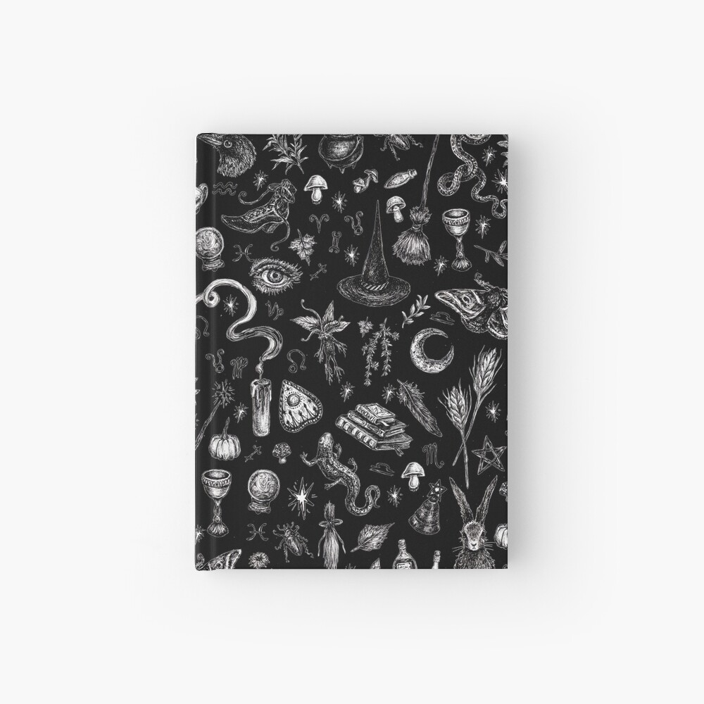 Salem Witch in Black Hardcover Journal