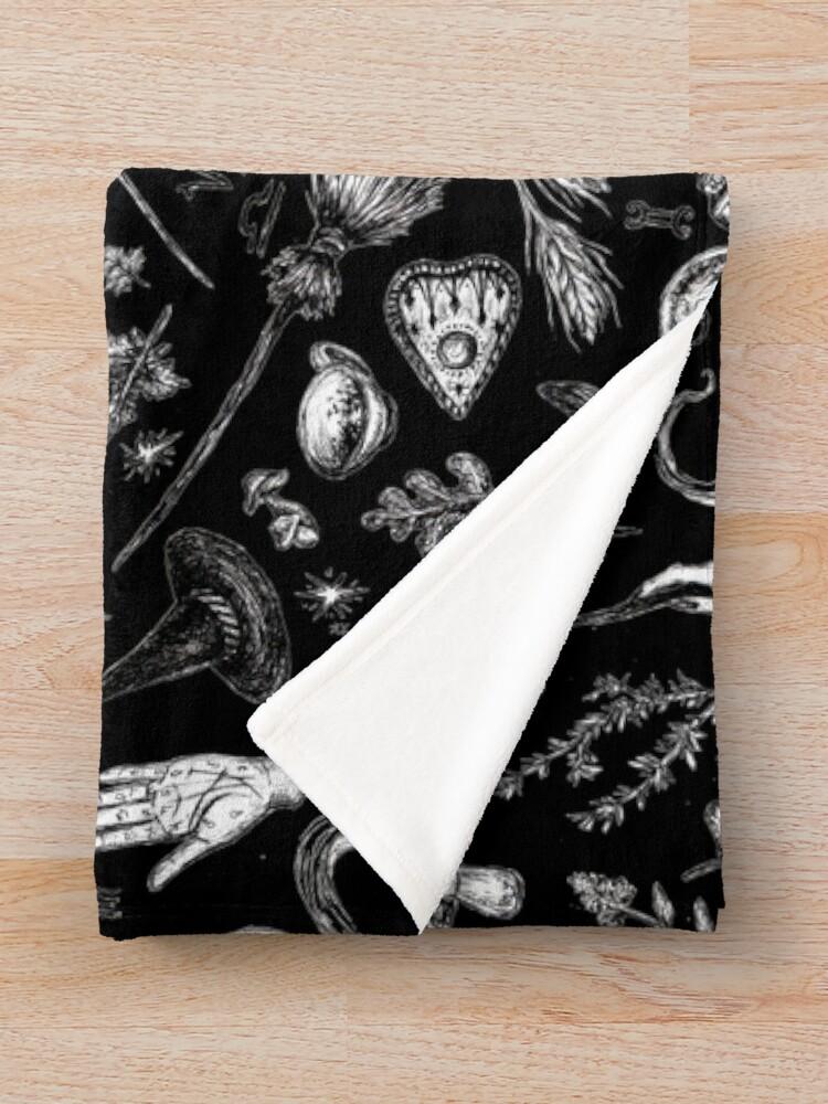 Alternate view of Salem Witch in Black Throw Blanket