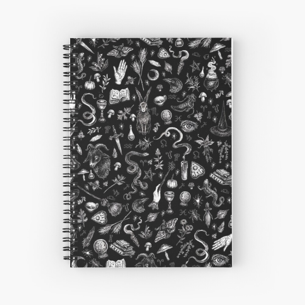 Salem Witch in Black Spiral Notebook