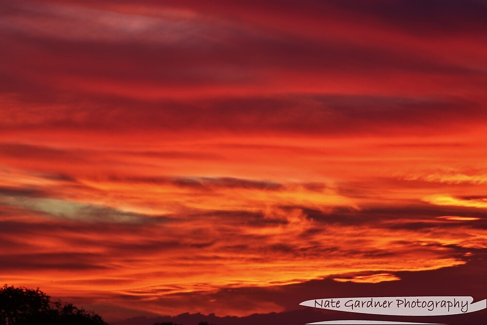 Fiery Sunset by Nathan Gardner