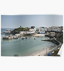 Tenby Harbour From Above Poster