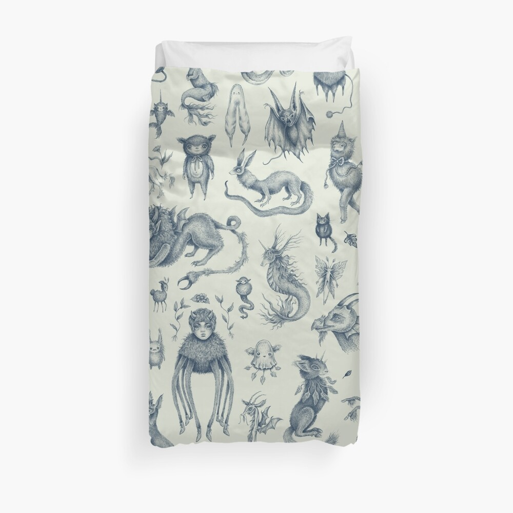 Beings and Creatures  Duvet Cover
