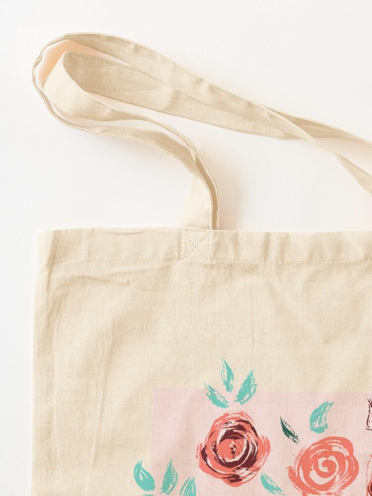 Alternate view of Brushstroke Roses Tote Bag