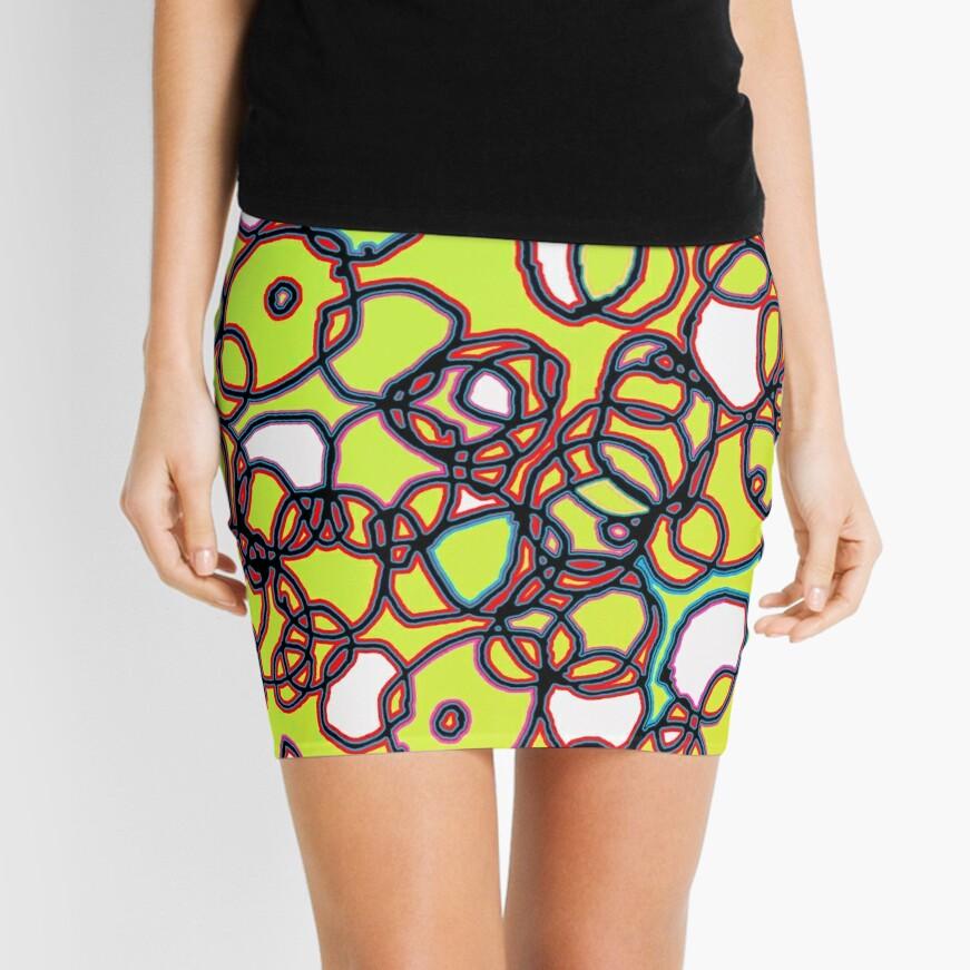 Random Cells  Mini Skirt