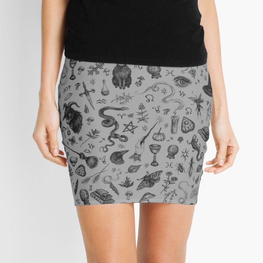 Salem Witch Mini Skirt