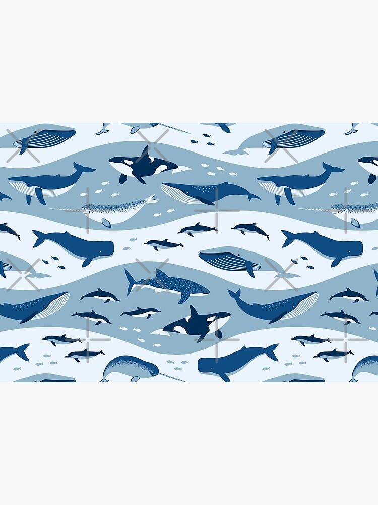 Whale Songs in Blue Ocean by nadyanadya