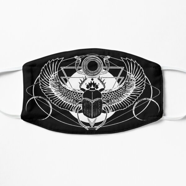Winged scarab and the Sun disc Flat Mask